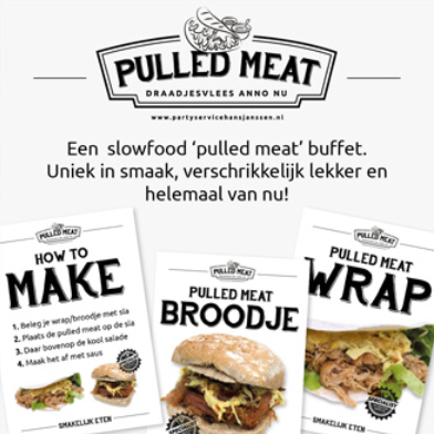 Pulled Meat Poster Partyservice Hans Janssen